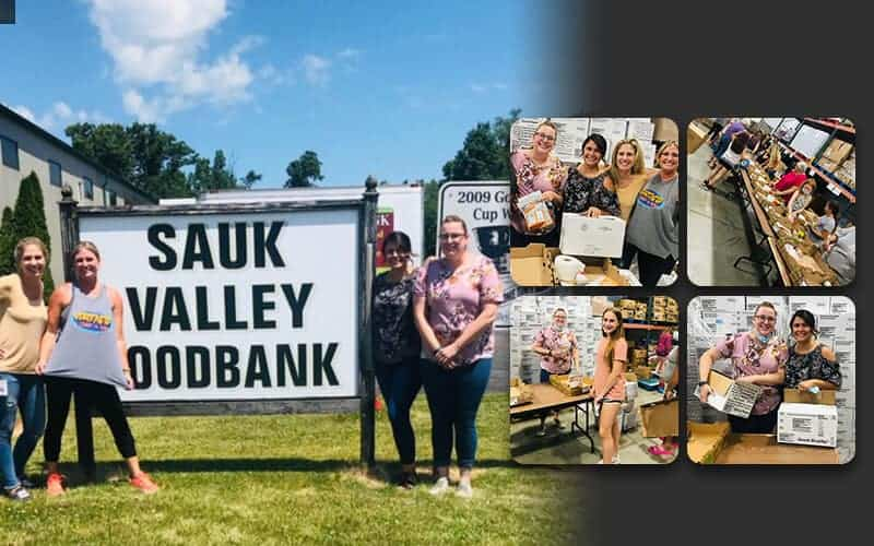 VeriFacts volunteers with Sauk Valley Foodbank